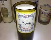 Cupcake Wine Bottle Candle