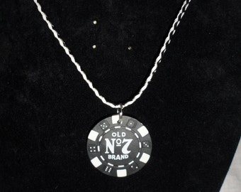 Jack Daniels Poker Chip Necklace
