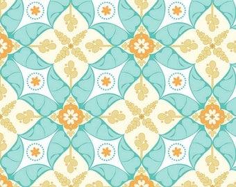 "Riley Blake Designs ""Calliope"" by Stitch Studios, C3201 Calliope Scroll, Aqua"