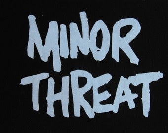 Minor Threat patch punk rock hardcore bad brains Free Shipping