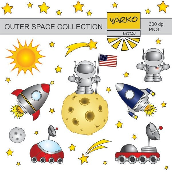 Outer space clip art man on the moon clip art cute for Outer space studios