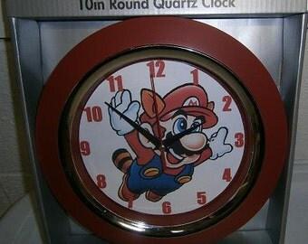 Custom-made Super Mario videogame wall clock