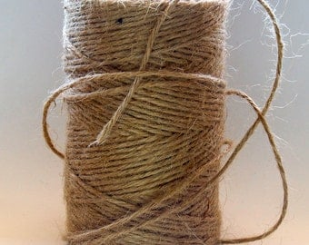 100 meters of 2mm Natural Jute Twine.Gift Tag String Cord- Eco Friendly 100 % .
