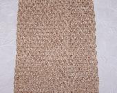 "Tan  Crochet Tutu Tops 8"" - Crochet Headbands"