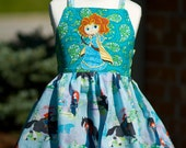 Brave Disney Merida inspired dress  sz4/5  RTS  4T-5T