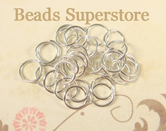 6 mm Silver-Plated Open Jump Ring - Nickel Free and Lead Free - 100 pcs (JR6S)
