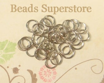 6 mm Platinum Open Jump Ring - Nickel Free and Lead Free - 100 pcs (JR6P)
