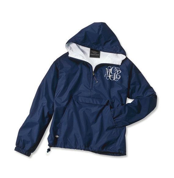 monogrammed half zip pullover jacket unlined jacket