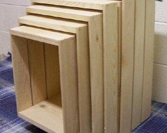 71-22x15.5x9x5pcNest Pine 5 Piece Nesting Storage Crates