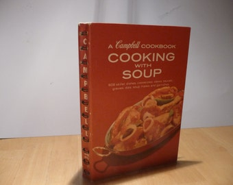 Vintage 1960s Campbell's Cooking with Soup cookbook