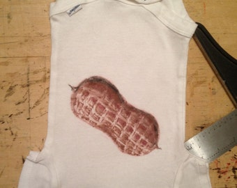 Peanut - Hand Illustrated Onesie