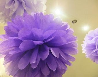 Mix of 100 Tissue Paper Pom Pom Balls - Party Decorations - Wedding Decorations - Pom Pom Decorations - Paper Balls - Nursery - Christmas