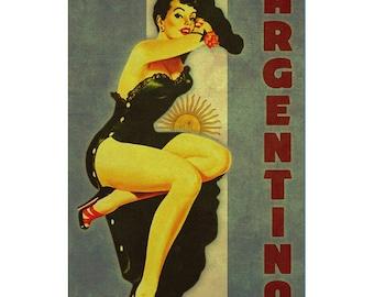 ARGENTINA 1PS- Handmade Leather Photo Album - Travel Art