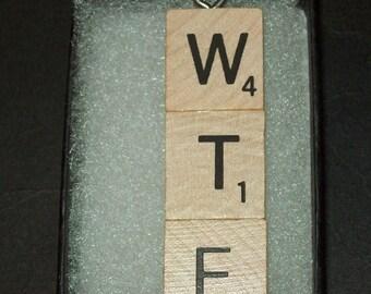 WTF Scrabble Tile Pendant