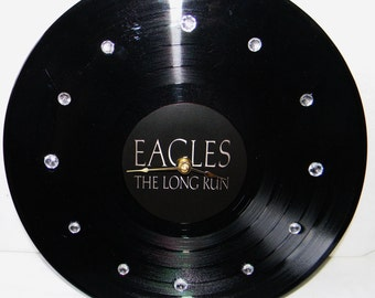 THE EAGLES The Long Run Inspired Vinyl Record Wall Clock