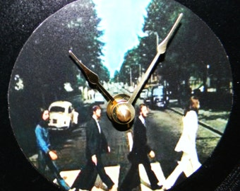 BEATLES ABBEY ROAD Inspired Vinyl Record Clock