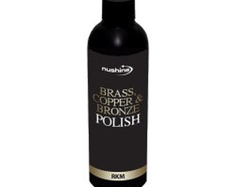 Nushine Brass Copper Bronze Polish 100ml ecofriendly solvent free