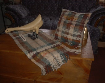 Hand Woven Runner & Small Envelope Accent Pillow