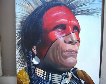 Oil Painting, Native American Sioux