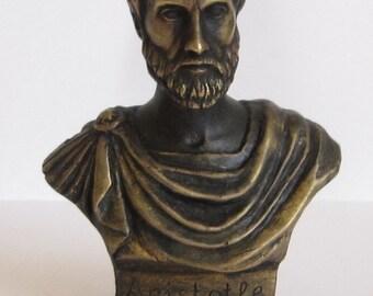 Bronze Bust Aristotle Figure