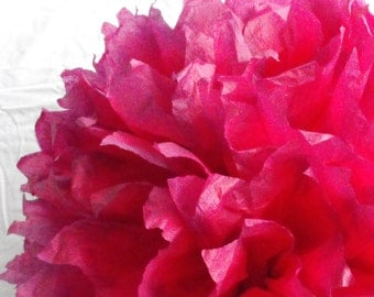Boysenberry & Wine Pom / Wedding Decoration  / Birthday / Pink Party Decoration / Baby Shower Decoration / Nursery Decoration
