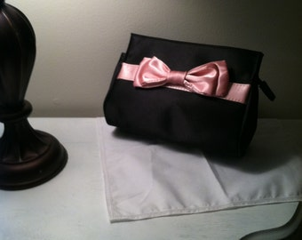 vintage black and pink purse
