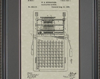 Calculator Patent Art Wall Hanging  Accountant Math Gift B8116