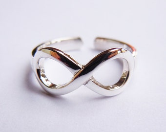 Sterling Silver Infinity Ring Open-Back Handmade All Size