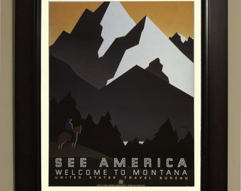 See america Montana WPA Poster - 3 sizes available, one price.