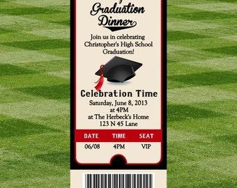 Graduation Party Ticket Invite