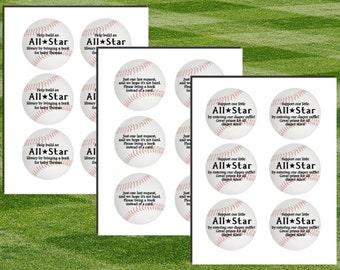Baseball Invitation Inserts