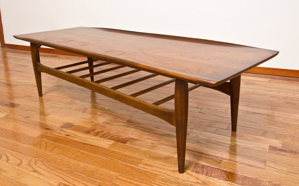 Bassett Artisan Collection Solid Walnut Surfboard Coffee Table