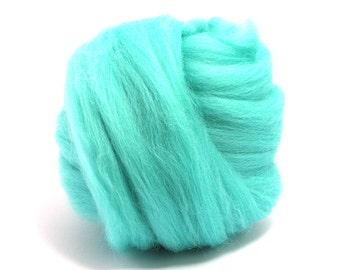 Spearmint (blue/green) - Blue Faced Leicester Wool Top - Roving - Needle/Wet/Nuno Felting - Spinning