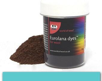 Turquoise - Eurolana Wool Dye - Hand Dye Your Own Wool - Roving/Top