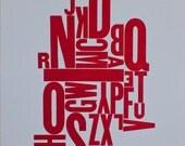 Letter-pressed print -- Vintage Wood type Alphabet