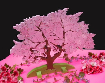 Cherry Tree 3d Wooden Puzzle