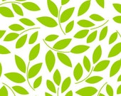 Leaf Fabric - Cruzin' Green Leaves by Barbara Jones of QuiltSoup for Henry Glass 5997 06 Green - 1/2 yard
