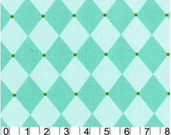 Argyle Cotton Fabric - Aqua Jester Andalucia by Patty Young  for Michael Miller DC3903-AQU - 1/2 yard