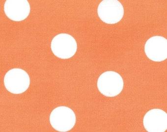 Polka Dot Fabric - Dottie Basic Dots  by Moda 45008 28 Tangerine - 1/2 yard