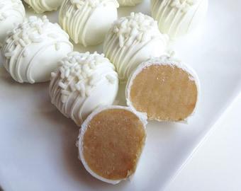 Cake Truffles - Very Vanilla Cake Truffles - Cake Balls - Vanilla Cake Truffles - White Chocolate Vanilla Cake Bites
