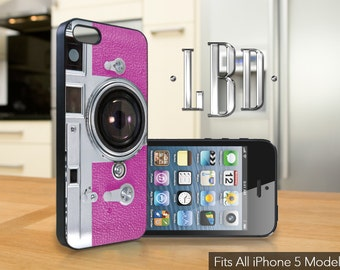 iPhone 5 / 5c / 5s Case  - Vintage Camera Pink  Cover iP5