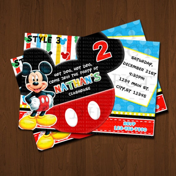 Mickey Mouse Invitations, Mickey Mouse Birthday, Mickey Mouse Party Invites, Mickey Birthday Printables