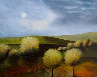 Rural Hills original oil painting 16x20