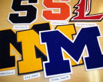 Chenille letters and custom patches