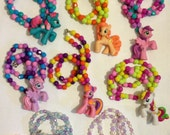Jessicas MLP hand beaded necklaces friendship is magic jewelry