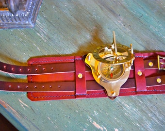 Steampunk Compass and Sundial Wrist Band