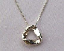 Mobius Sterling Silver Pendant- Small, Mobius Necklace, Mobius Jewelry