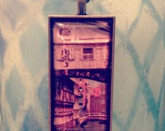Vintage Venice postcard pendant - Bridge of Sighs.