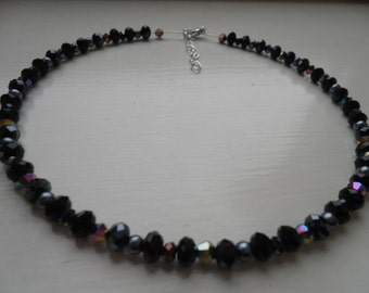 Black Crystal Choker Necklace