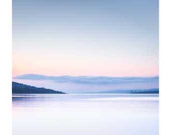 Oversized Photo - PASTEL Wall Art  -  Pastel Dawn - Scottish Landscape - Very large wall decor - Scotland